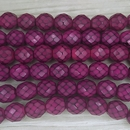 15 x 10mm snake skin beads in Fuchsia