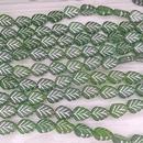 20 x flat leaves in Dark Green (10x8mm)