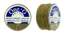 PT-50-8 - 50 yards of Toho One-G beading thread in Sand Ash