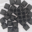 2 x 12mm pyramids in Black