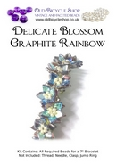 Bead Kit for Delicate Blossom in Graphite Rainbow