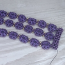 Selection of Purple and Gold beads for the bracelet Daisies in a Row