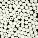 50 x 5mm round beads in White