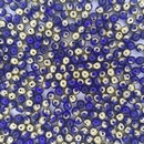 50 x 4mm round beads in Sapphire/Amber