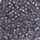 50 x 3mm faceted beads in Silver Rainbow - free gift