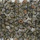 50 x 5mm faceted Black Diamond / Bronze beads