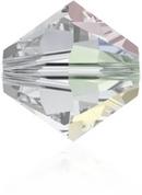 24 x 3mm bicones in Crystal AB (Swarovski) Xilion 5328