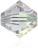 24 x 4mm bicones in Crystal AB (Swarovski) Xilion 5328