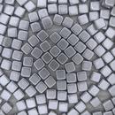 25 x 6mm Czech tiles in Aluminium Silver