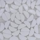 10 x Semi Circle beads in Chalk White