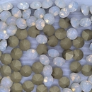 10 x 8mm chatons in White Opal (Vintage Czech)