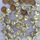 10 x 8mm chatons in Light Yellow (Vintage Czech)
