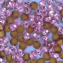 10 x 8mm chatons in Pink (Vintage Czech)