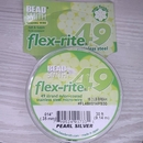 30ft of 49 strand Flex-rite 49 in Pearl Silver .014