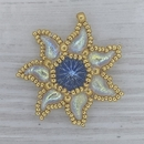 Bead Kit for Eidelweiss Pendant in Light Sapphire with Gold seed beads