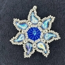 Bead Kit for Eidelweiss Pendant in Light Sapphire with Silver seed beads