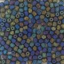 50 x 4mm faceted beads in Matt Black Iris Rainbow