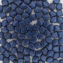 25 x Ginkgo beads in Metallic Suede Dark Blue