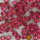 10 x 8mm chatons in Dark Pink (Vintage Czech)