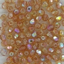 Free Gift - 50 x 4mm Faceted beads in Orange Rainbow