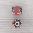 11mm Venetian rosette bead in Red with 6 layers (1940s)