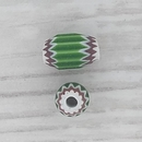 7mm Venetian rosette bead in Green with 4 layers (1940s)