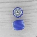 8mm Venetian rosette bead in Blue and White (1940s)