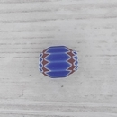 8mm Venetian rosette bead in Blue with 6 layers (1940s)