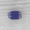 7mm Venetian rosette bead in Navy with 6 layers (1940s)