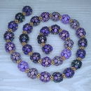 Purple and Gold beads for the necklace Selected Berries Harvest