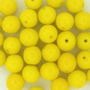 10 x 8mm round beads in Yellow (1970s)