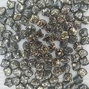 25 x ginkgo beads in Black Gold Splash
