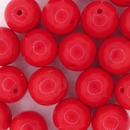 8 x 10mm round beads in Red (1980s)