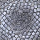 20 x 6mm Czech tiles in Crystal/Metallic Pewter