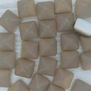 2 x 12mm pyramids in Matt Chalk White/Celsian