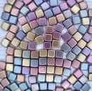 25 x 6mm Czech tiles in Gold Purple Iris