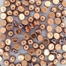 10 x 2 hole cabochon in Full Capri Gold (6mm)