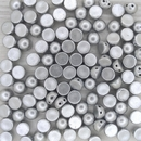 10 x 2 hole cabochon in Aluminium Silver (6mm)