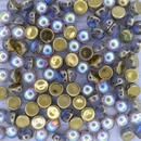 10 x 2 hole cabochon in Golden Rainbow (6mm)
