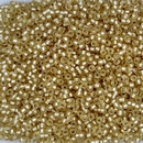 1902 - 10g Size 11/0 Miyuki seed beads in Semi Matt Silver lined Gold