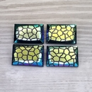 18x12mm rectangular cabochon in Black with Giraffe design