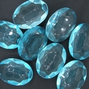 25x18mm Light Blue Oval Cabochon (Vintage) Cab51