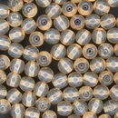 50 x 6mm round beads in Champagne