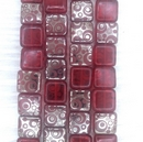 15 x 10mm beads in Red with laser etched Chrome circles