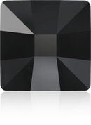 Pair of 25mm Black Square Flatbacks with adhestive (Swarovski)