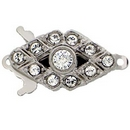 Claspgarten Silver clasp with 1 row 13969 - 18x10mm - No packaging
