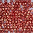 50 x 4mm faceted beads in Opaque Coral Splash