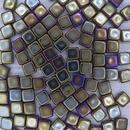 25 x 6mm silky beads in Brown Iris