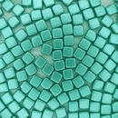 20 x 6mm Czech tiles in Metallic Green