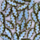 10 x table cut Spindle beads in Light Turquoise Picasso (18x7mm)